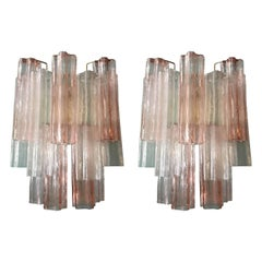 Pair of Tronchi Sconces by Venini