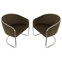 Pair of Tub Dining or Lounge Chairs by Joan Burgasser / Anton Lorenz for Thonet