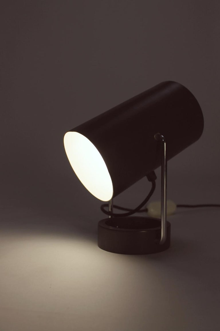 Pair of Tubus Table Lamps by Tulux in Style of Baltensweiler Swiss, 1960s For Sale 4