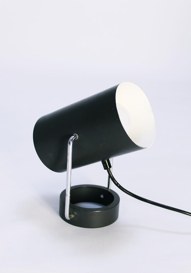 Mid-Century Modern Pair of Tubus Table Lamps by Tulux in Style of Baltensweiler Swiss, 1960s For Sale