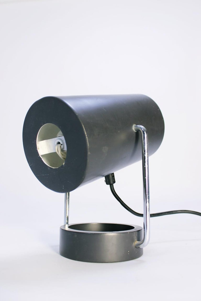 Chrome Pair of Tubus Table Lamps by Tulux in Style of Baltensweiler Swiss, 1960s For Sale