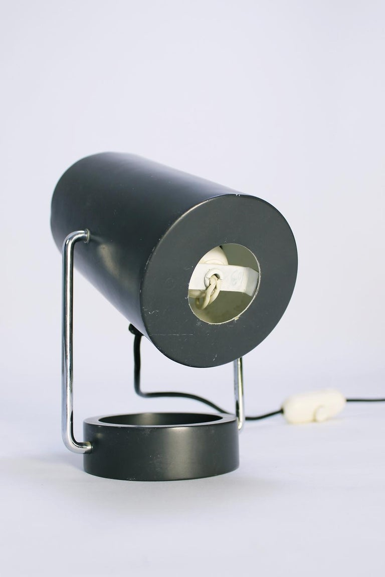 Pair of Tubus Table Lamps by Tulux in Style of Baltensweiler Swiss, 1960s For Sale 1