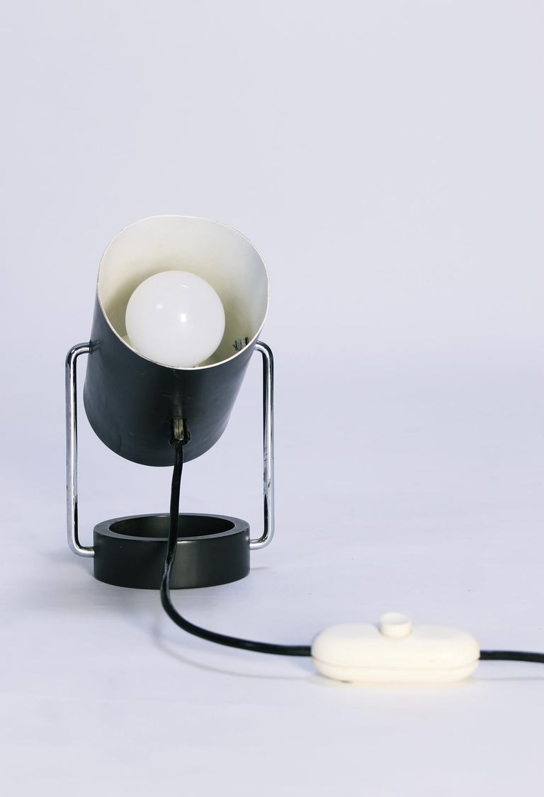 Pair of Tubus Table Lamps by Tulux in Style of Baltensweiler Swiss, 1960s For Sale 2