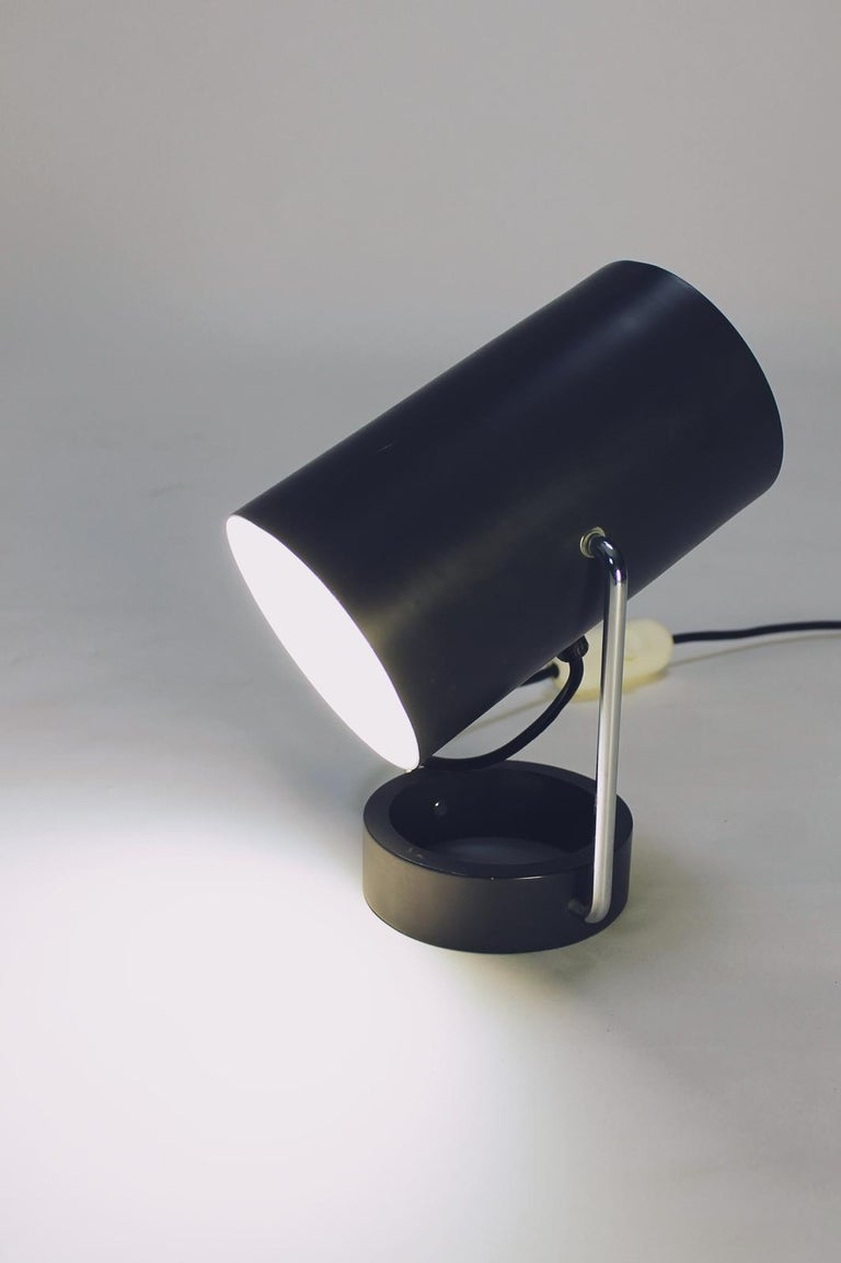 Pair of Tubus Table Lamps by Tulux in Style of Baltensweiler Swiss, 1960s For Sale 3