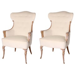 Pair of Tufted Chairs, circa 1940