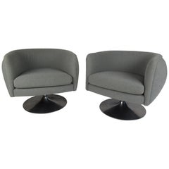 Pair of Tulip Lounge Chairs by Knoll Studios