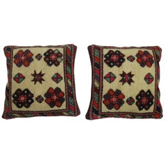 Pair of Turkish Village Rug Pillows