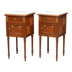 Pair of Turn of Century Mahogany Bedside Cabinets