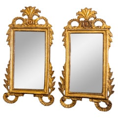 Pair of Tuscan Giltwood Wall Mirrors, Italy Late 18th Century
