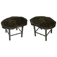 Pair of TWD Rock Crystal Quartz Cocktail Tables by Phoenix