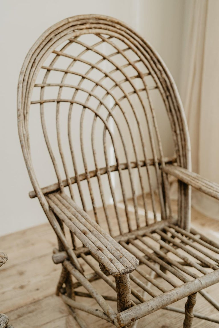 Pair of Twig Armchairs For Sale 9