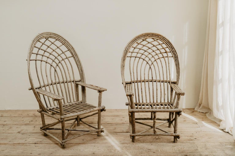 Pair of Twig Armchairs For Sale 1