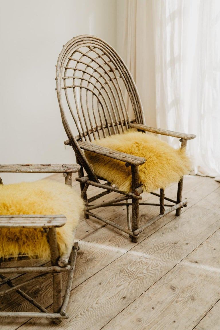 Pair of Twig Armchairs For Sale 4