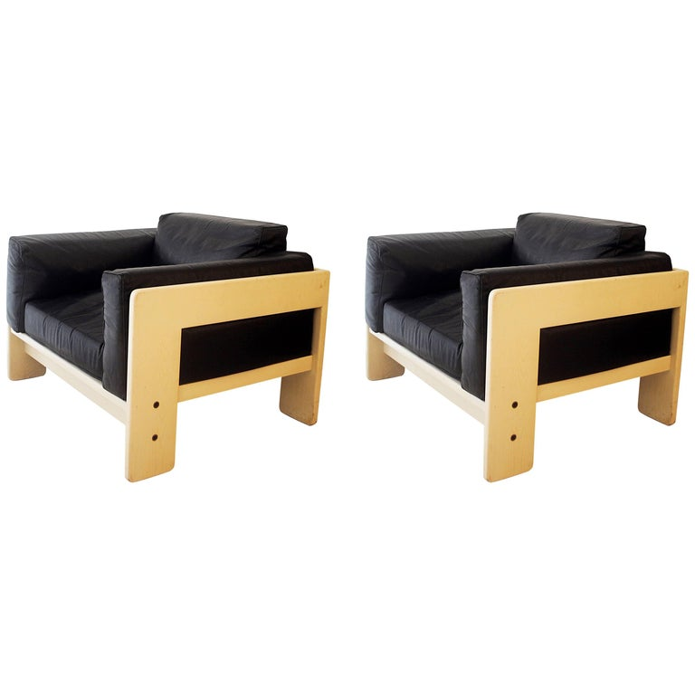 """Pair of Two Armchairs """"Bastiano"""" by Tobia Scarpa for Gavina, Italy, circa 1960 For Sale"""