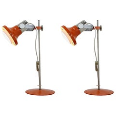 Pair of Two Design Midcentury Table Lamp by Pavel Grus, 1970s