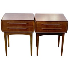 Pair of Two-Drawer Teak Bedside Tables by Johannes Andersen for CFC Silkeborg