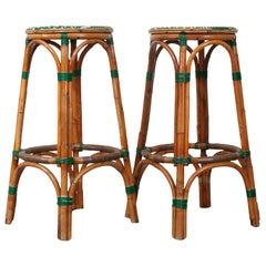 Pair of Two French Bistro Bar Stools