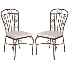 Garden Chairs in Brown Wrought Iron. Indoor & Outdoor