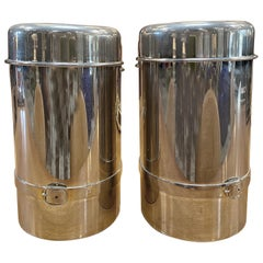 Pair of Two Gucci Silver Wine Ice Bucket Cooler Holder, 1970s