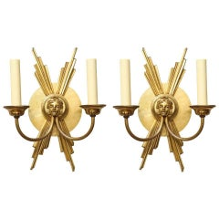 Pair of Two-Light French Wall Sconces