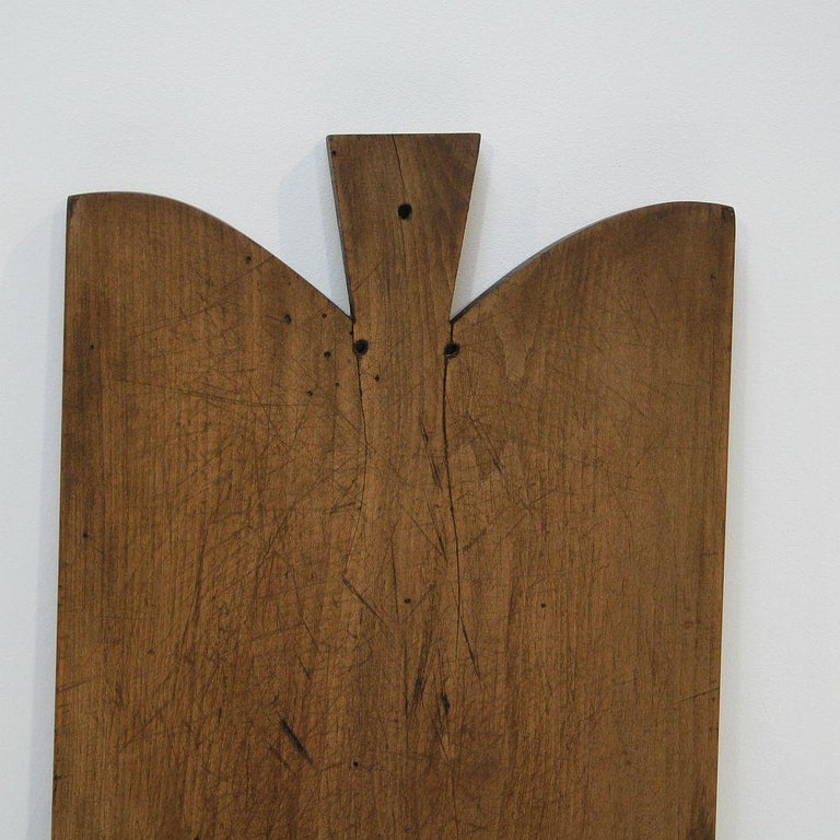 Pair of Two Rare French 19th Century, Wooden Chopping or Cutting Boards For Sale 3