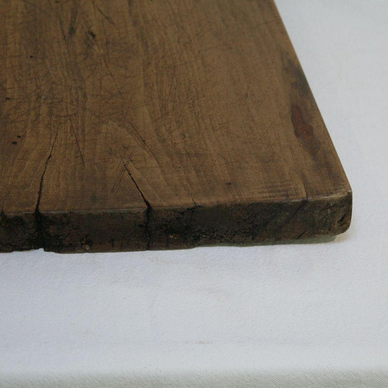Pair of Two Rare French 19th Century, Wooden Chopping or Cutting Boards For Sale 5