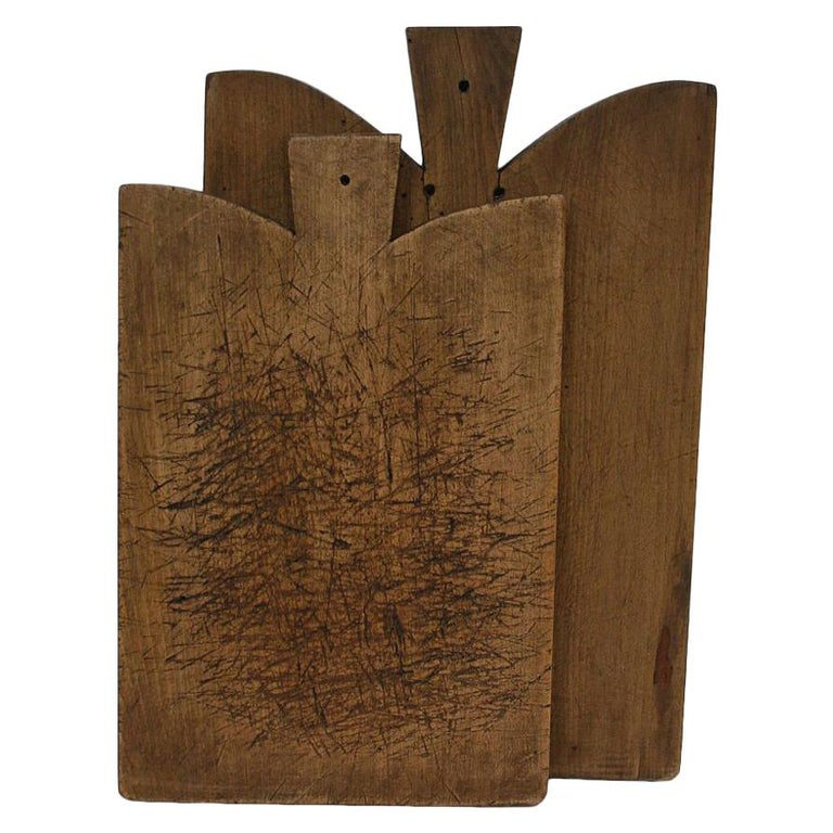 Pair of Two Rare French 19th Century, Wooden Chopping or Cutting Boards For Sale