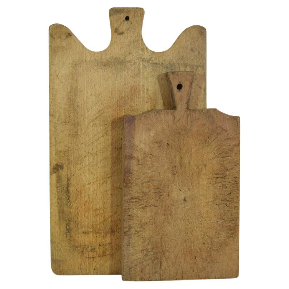 Pair of Two Rare French 19th Century, Wooden Chopping or Cutting Boards