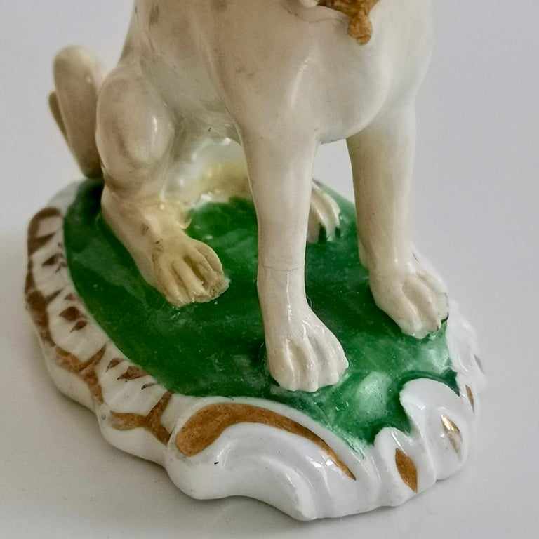 Pair of Two Rockingham Pug Dogs on Rococo Base, circa 1835 For Sale 3