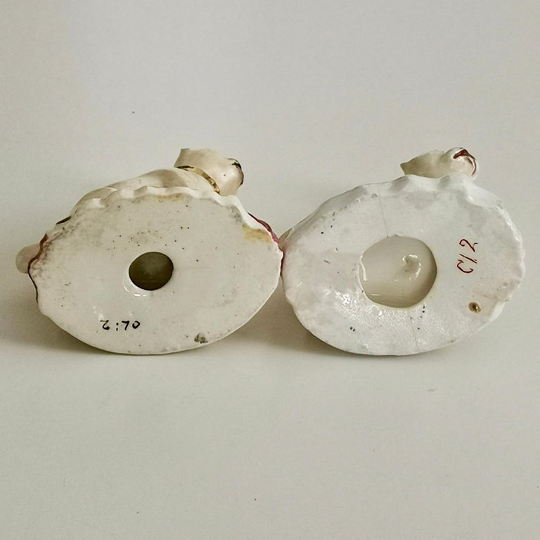 Pair of Two Rockingham Pug Dogs on Rococo Base, circa 1835 For Sale 6
