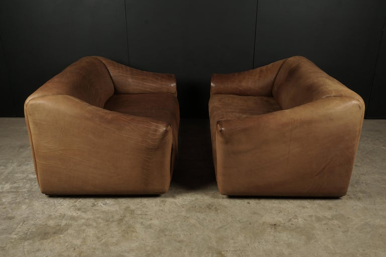 Pair of Two Seat Sofas by De Sede, Switzerland, circa 1960 In Good Condition For Sale In Nashville, TN