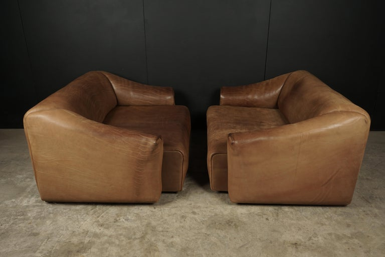Pair of Two Seat Sofas by De Sede, Switzerland, circa 1960 For Sale 2