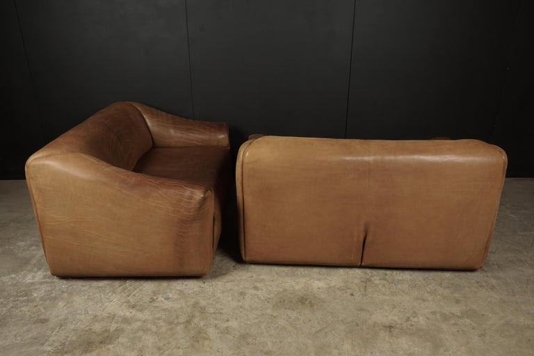 Pair of Two Seat Sofas by De Sede, Switzerland, circa 1960 For Sale 3