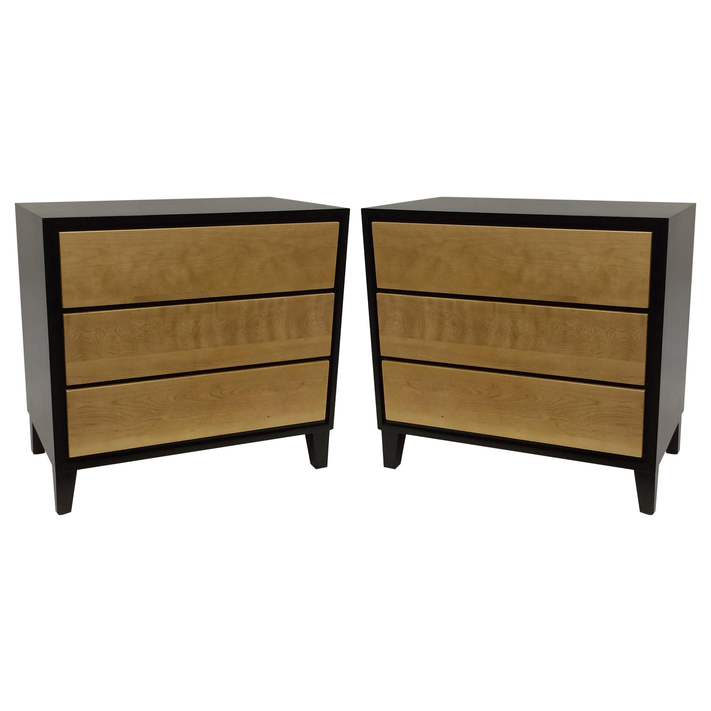 Pair Of Two Tone Maple Wood Nightstands By Russel Wright
