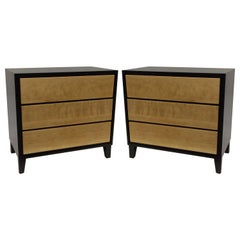 Pair of Two-Tone Maple Wood Nightstands by Russel Wright