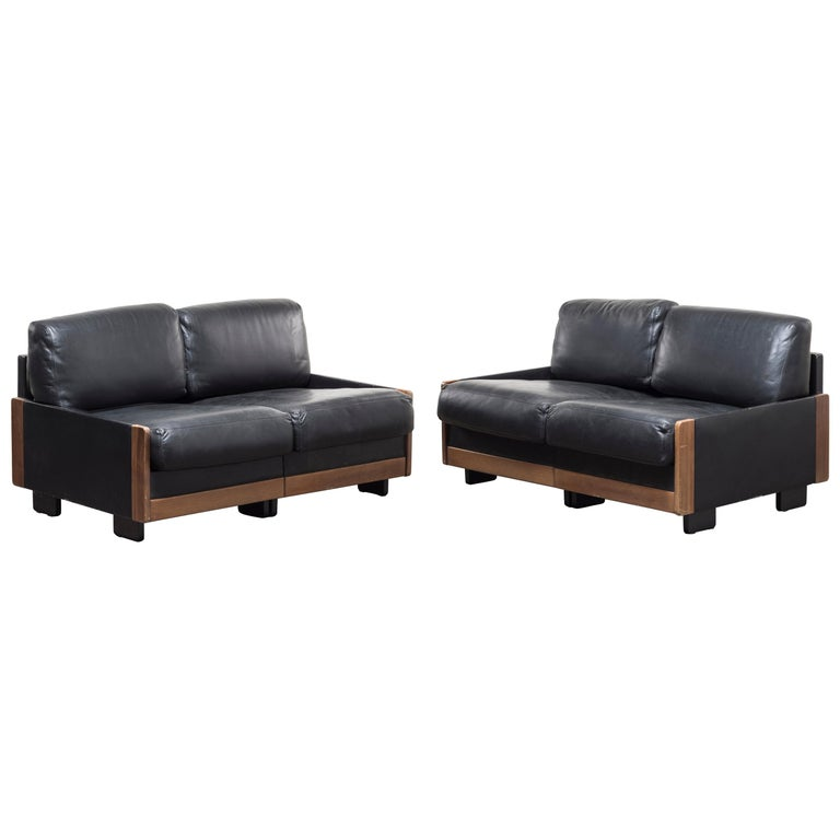 Pair of Two‐Seat Sofas Mod. 920 by Afra & Tobia Scarpa For Sale