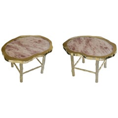 Pair of TWR Rock Crystal Quartz Cocktail Tables by Phoenix