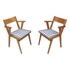 "Pair of Typical ""French Reconstruction"" Chair circa 1950"