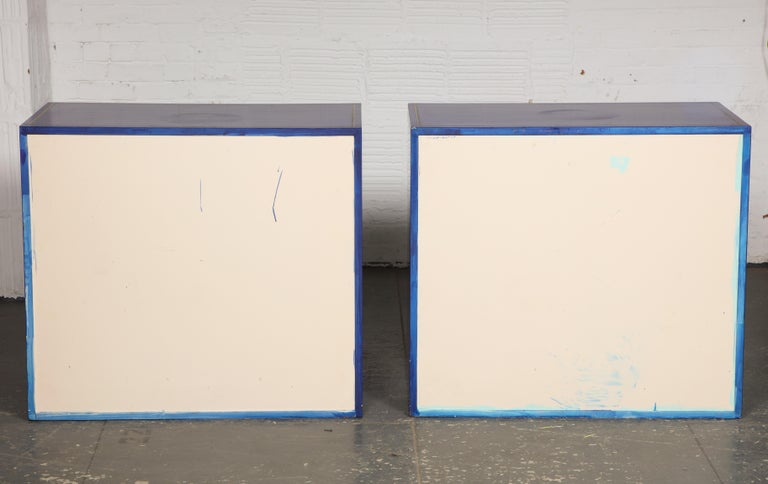 Pair of Ultramarine Blue and Gilt Side Cabinets For Sale 12