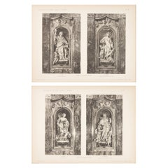Pair of Unframed Architectural Prints, Italy, Early 1900s