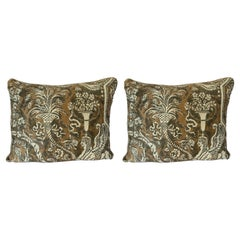 Pair of Unique Fortuny Pillows w/ Sphinxes