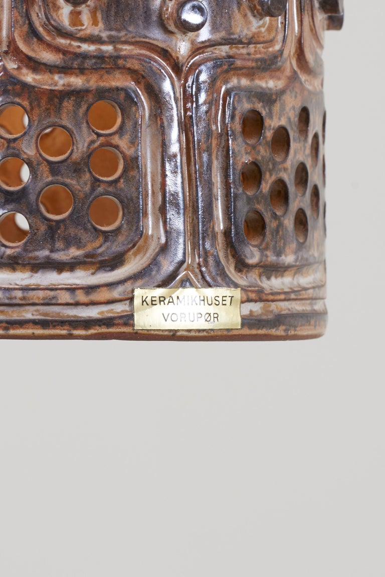 1 of 2 Pairs of Handmade Jette Helleroe Danish Modern Pendant Lamps, 1960s For Sale 3