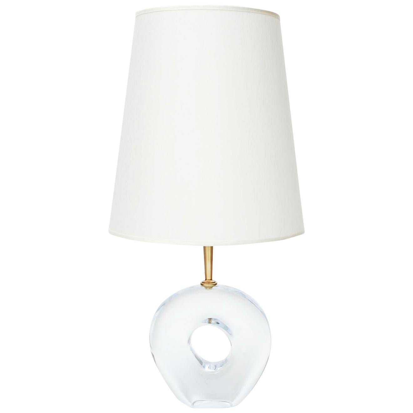 Pair of Unique Table Lamps in Murano Glass by Esperia for Glustin Luminaires