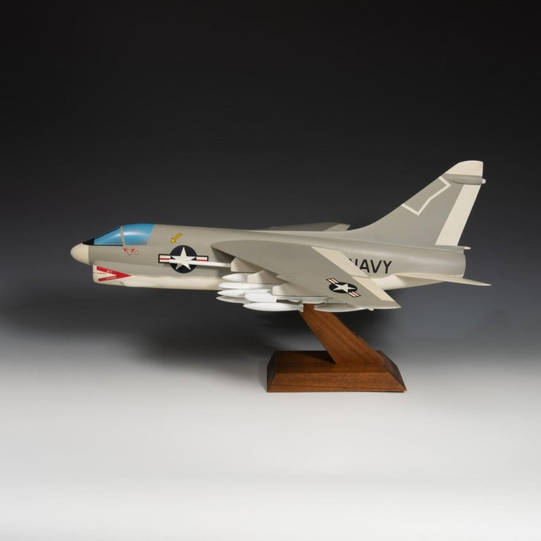 Pair of United States Military A-7 Corsairs Model Aircrafts, circa 1970 For Sale 8