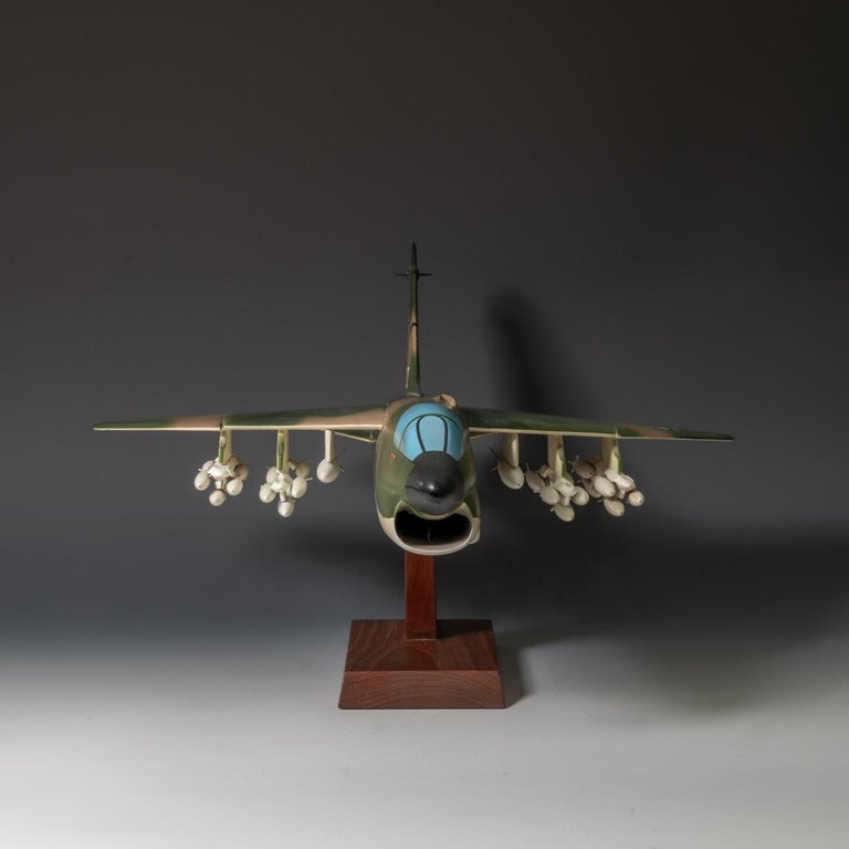 Dutch Pair of United States Military A-7 Corsairs Model Aircrafts, circa 1970 For Sale