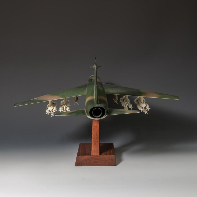 Aluminum Pair of United States Military A-7 Corsairs Model Aircrafts, circa 1970 For Sale
