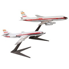 Pair of Unmatched of Solid Aluminium Iberia Airplane Models
