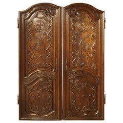 Pair of Unusual 18th Century French Oak Fleur-de-Lys Doors