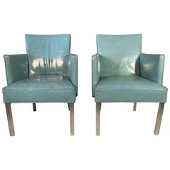 Pair of Unusual Armchairs from S.S. United States Ocean Liner