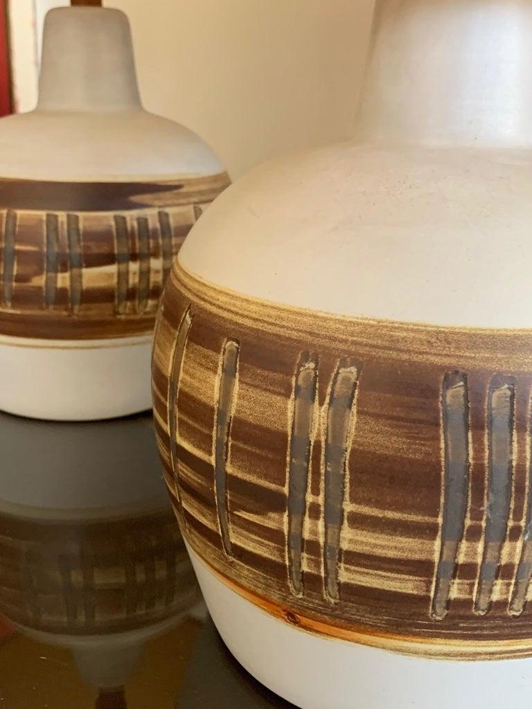 Pair of Unusual Ceramic Lamps by Gordon Martz For Sale 6